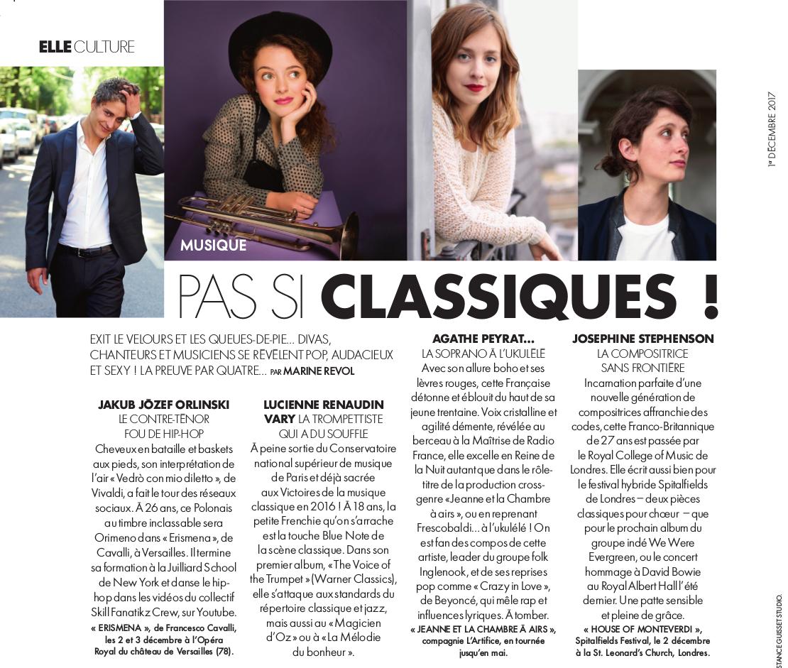 Agathe Peyrat - Article dans le magazine Elle